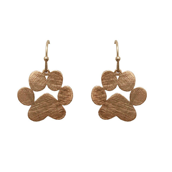 [2 PCS] Paw earring - gold