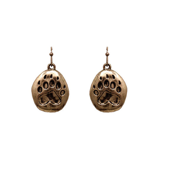 [2 PCS] Paw earring - burnish gold