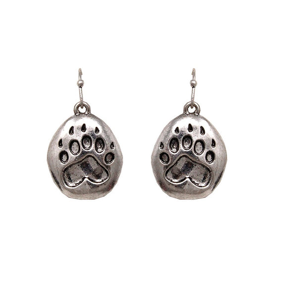 [2 PCS] Paw earring - burnish silver