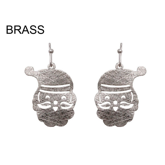 [12PC] Santa Claus earring - worn silver