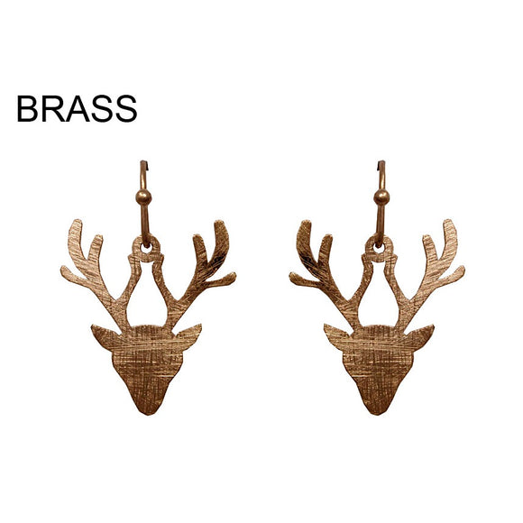 [12PC] Reindeer earring - worn gold