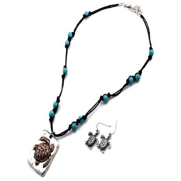 TURTLE NECKLACE SET