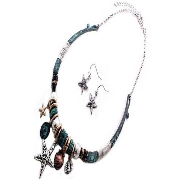 SEA LIFE NECKLACE SET