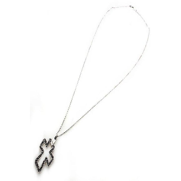 Outline Cross necklace set - Silver