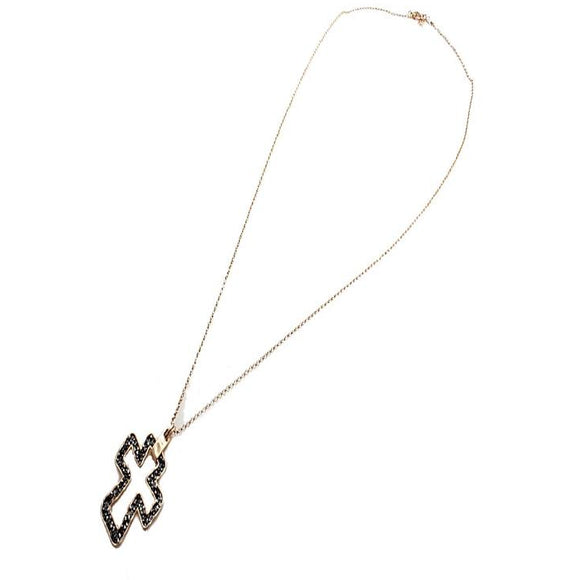 Outline Cross necklace set - Gold