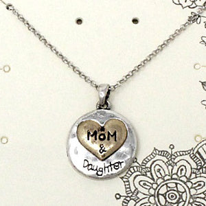Mother & Daughter necklace set - silver