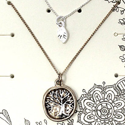Tree of life necklace set