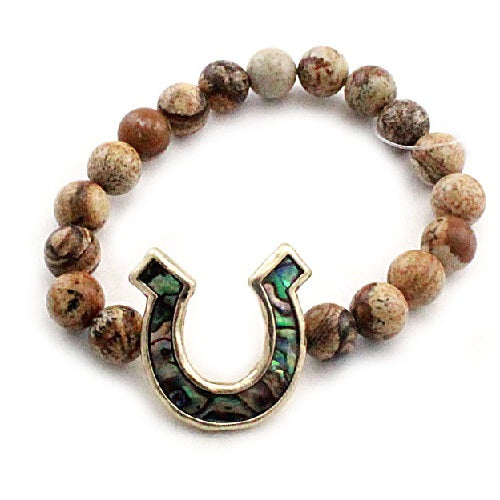 Horseshoe w/ semi precious - natural