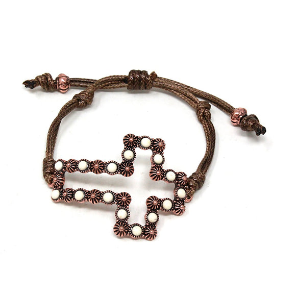 [2PCS] Cross Bracelet - natural