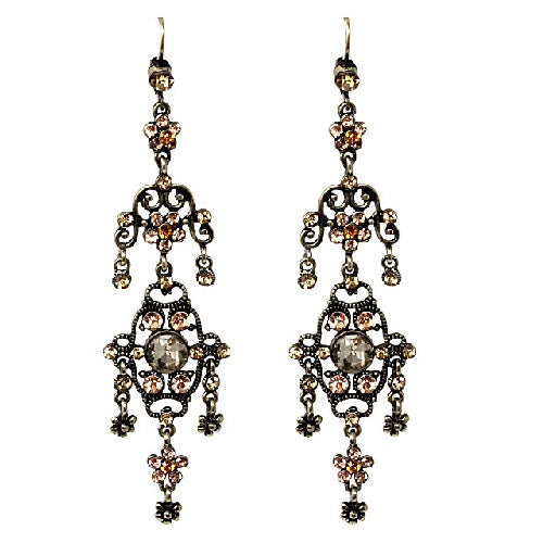 Bohemian chandelier earring - brown