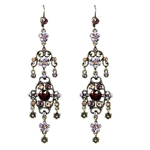 Bohemian chandelier earring - purple
