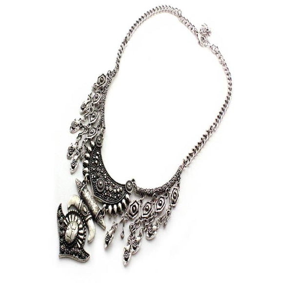BOHEMIAN NECKLACE SET - SILVER