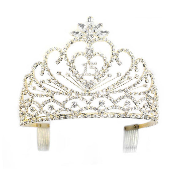 SWEET 15 TIARA - GOLD