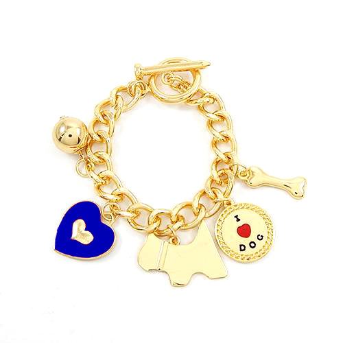 I love god bracelet - gold