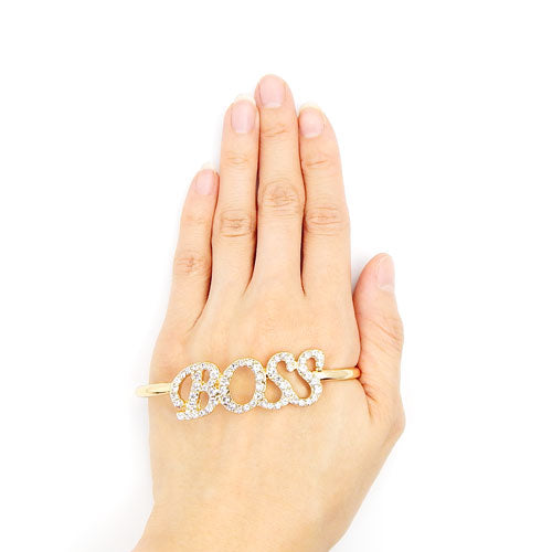 Boss hand jewelry - gold & silver