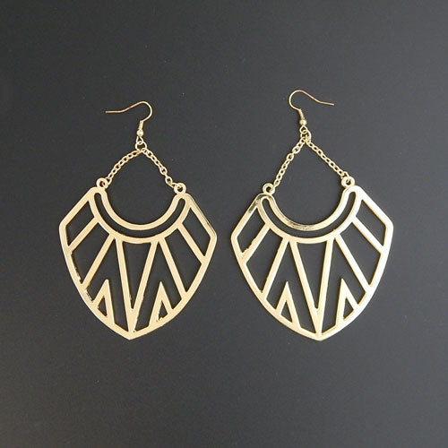 Geometric earring - gold