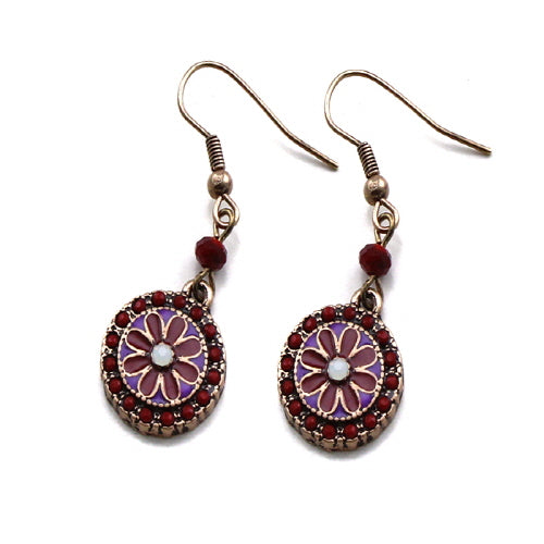 Epoxy flower earring - red