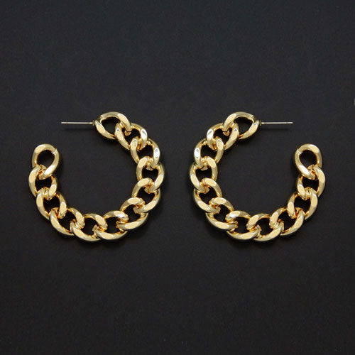 45mm chain earring - gold