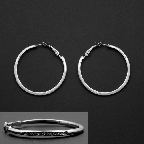 45mm ring earring - silver