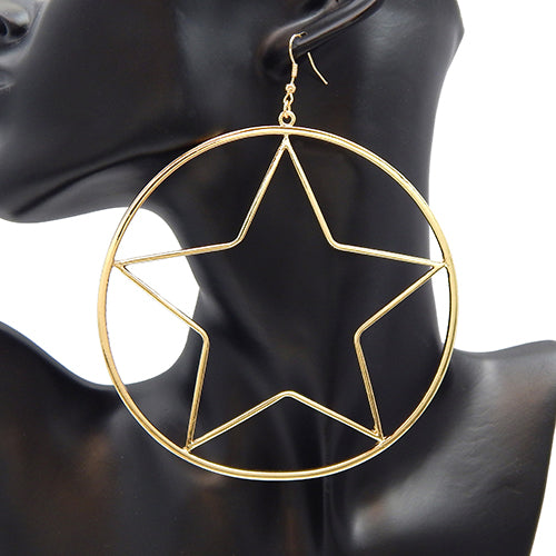 100mm star earring - gold