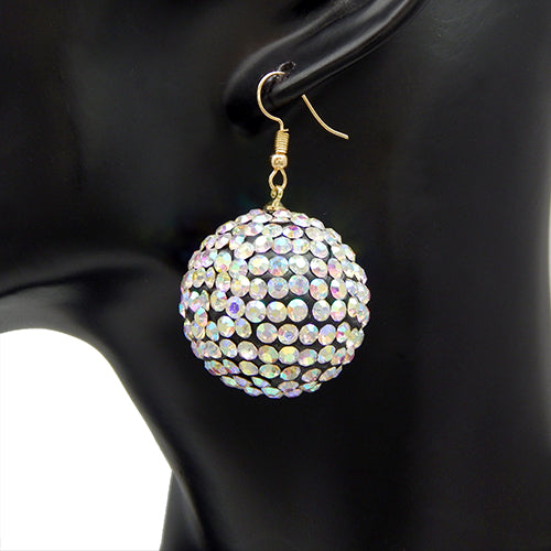 Stud ball earring - aurora