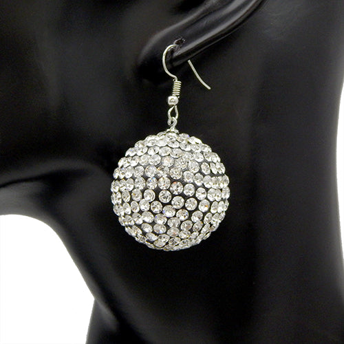 Stud ball earring - silver