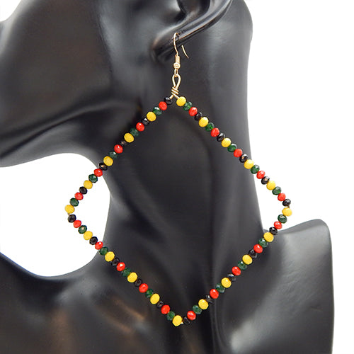 Square bead earring