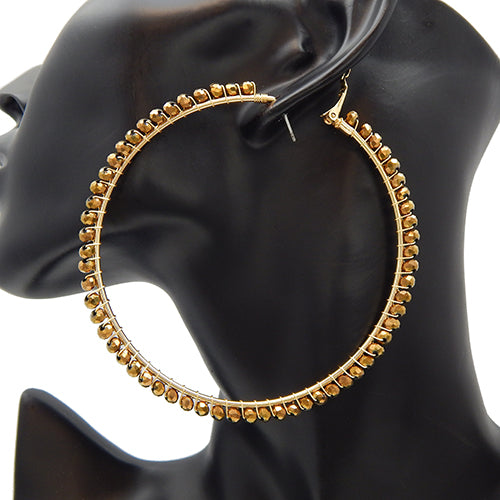 80mm round gold earring - gold