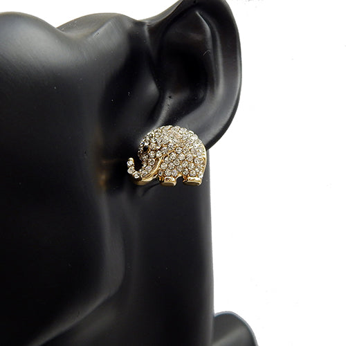 Elephant pave earring - gold