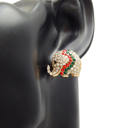 Elephant pave earring - multi