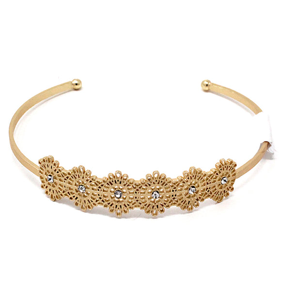 FLOWER BRASS CUFF