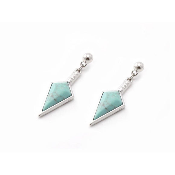 SPEAR EARRING - TURQUOISE