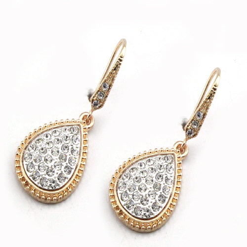TEAR DROP EARRING - CLEAR