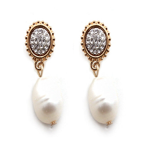 FWP & PAVE EARRING - CLEAR