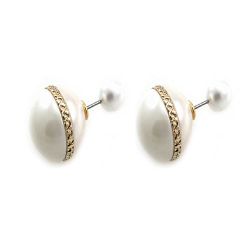 DOUBLE SIDE PEARL EARRING