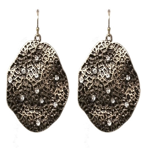 GEOMETRIC EARRING - ANTIQUE GOLD