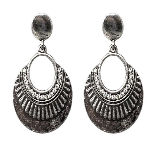 BOHEMIAN EARRING - BURNISH SILVER