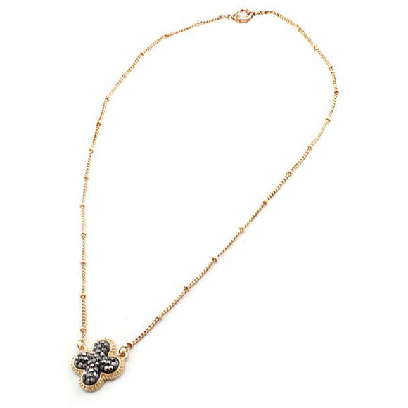 GOLD CLOVER NECKLACE SET