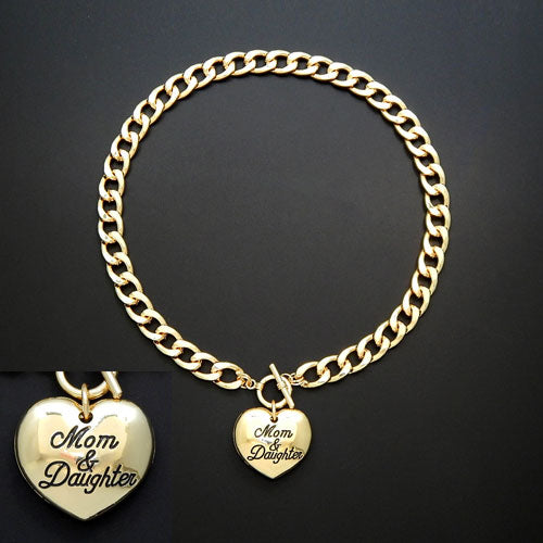 Mom & Daughter necklace - gold