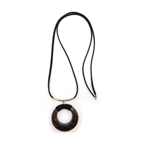 Natural stone pendant - black