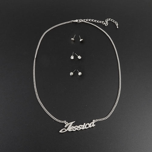 Jessica necklace set - silver