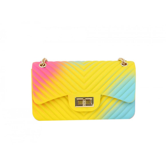 Multi color jelly crossbody bag - mti