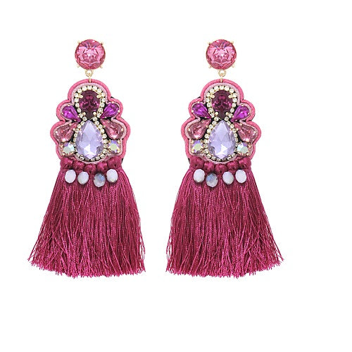 Fancy Tassel earring - fusha