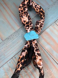 Distressed leopard Bandana