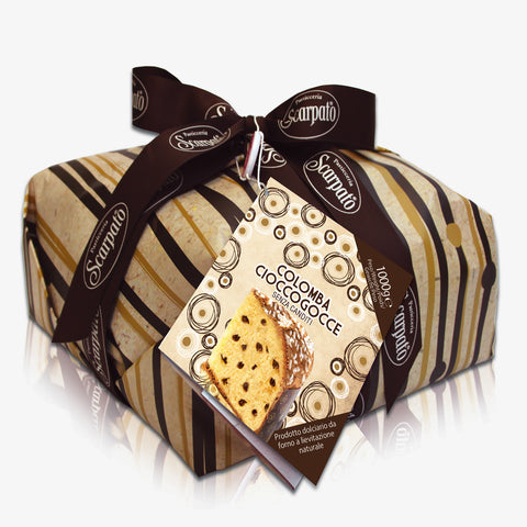 Colomba Pasquale with Artisan Drops Chocolate Cream - Pasticceria Scarpato