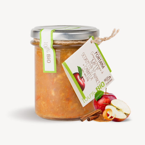 Apples, Caramelized Orange Peel and Cinnamon Jam Fontana Bio