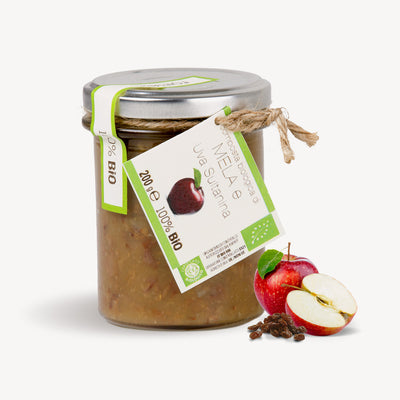 Apples and Sultanine Grapes Jam Fontana Bio