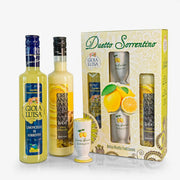 Gioia Luisa Limoncello and Limoncello Cream With handmade painted glasses - Fine Food Gifts | Italian Gift Baskets – Dolceterra Italian Within US Store‎