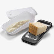 Parmigiano Reggiano Stainless Steel Grater with Container and Cover