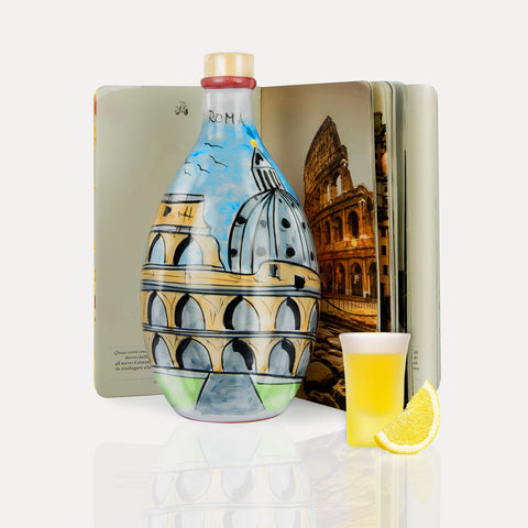 'Limoncello Sorrento' - Hand-Painted Jar & Italy Book